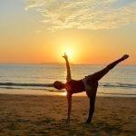 Fit D iva Yoga Teacher Hiromi Banno Sunset Beach Yoga
